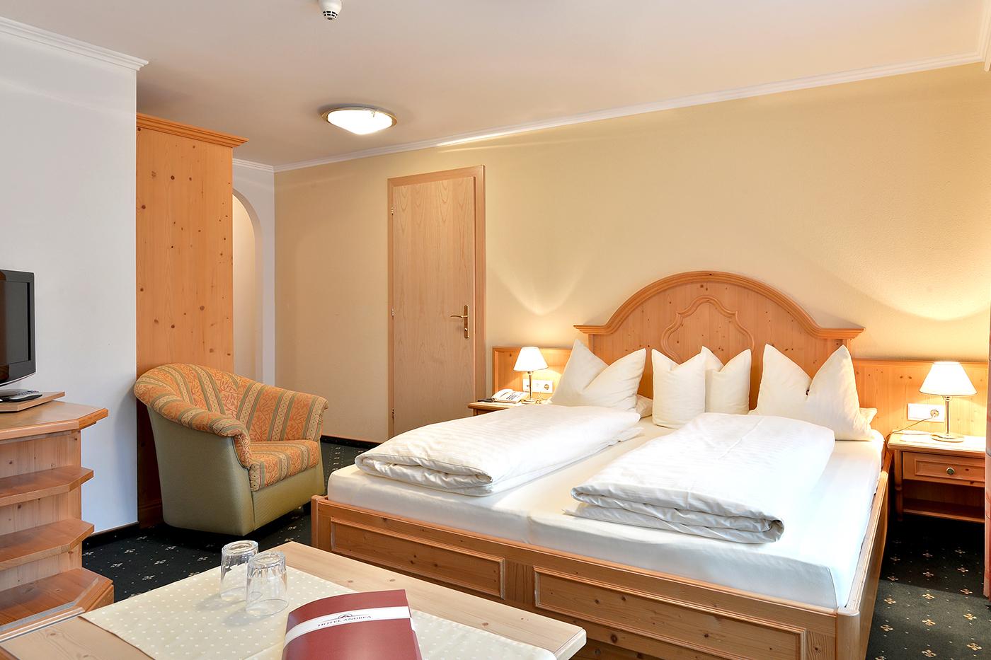 Doppelzimmer & einzelzimmer im hotel andrea